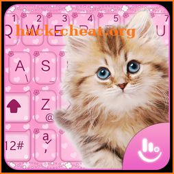 Pink Cute Cat Keyboard Theme icon