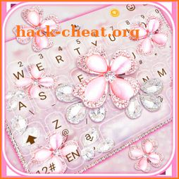 Pink Diamond Flowers Keyboard Theme icon