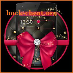 Pink Golden Black  Bow Theme icon
