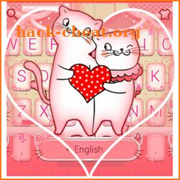 Pink Kitty Love Keyboard Theme icon