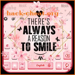 Pink Lovely Quote Keyboard Themes icon