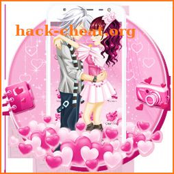 Pink Sweet Lovely Couple Theme icon