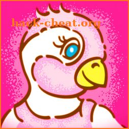 Pinkie, the pink penguin - children book icon