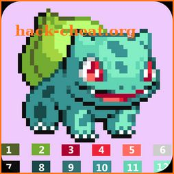 Pixel art Coloring by numbers for Pokemons icon