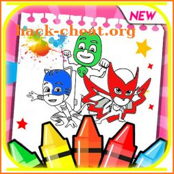 PJ Super Masks Heroes Coloring Book icon