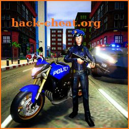 Police Moto Cop Chase Gangster - Shoot on Sight icon