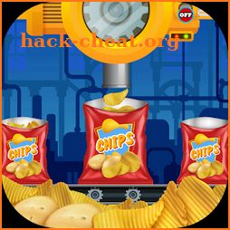 Potato Chips Factory - delicious food cooking chef icon