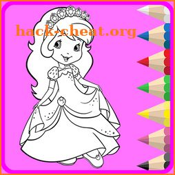 Princess Coloring Book Drawing Pages icon