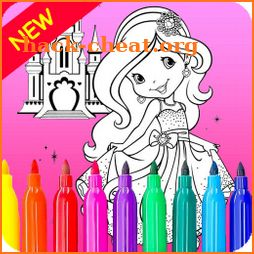 Princess Coloring Book For Kids icon
