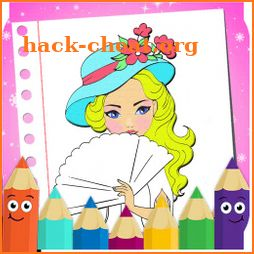 princesses coloring book-sweet coloring icon