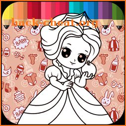 Princesses Coloring Pages for Kids icon