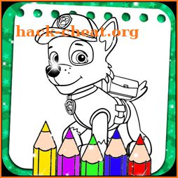 Puppy Dog Coloring Pages Drawing Game icon