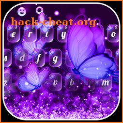 Purple Fantasy Starlight Butterfly Keyboard icon