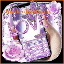 Purple Love Keyboard icon
