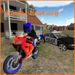 Real Motocross : Police Car Chase 3D icon