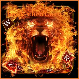 Red Fire Lion Roar Keyboard Theme icon