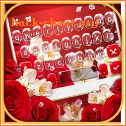 Red Rose Floral Keyboard Theme icon