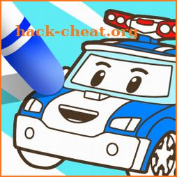 Robocar Poli SketchBook Game - Kids Painting,Color icon