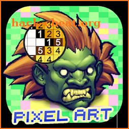 Sandbox Pixel art : Color By Number Street Fighter icon