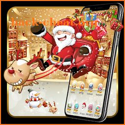 Santa Claus Launcher Theme Live HD Wallpapers icon