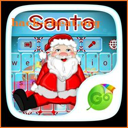 Santa Emoji GO Keyboard Theme icon