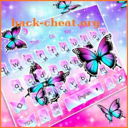 Shine Fluorescent Butterfly Keyboard Theme icon