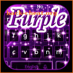 Shiny Sparkling Purple Keyboard Theme icon