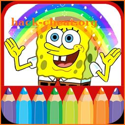 Spoong bob Coloring book pages icon