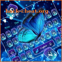 Spring Shiny Blue Butterfly Keyboard Theme icon