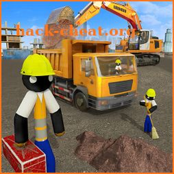 Stickman City Construction Excavator icon
