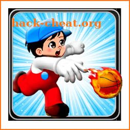 Super Rawan bario : drive and Play Basketball icon