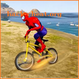 Superhero Bmx Cycle: Hill Racing icon