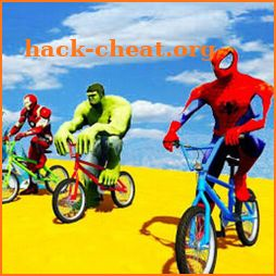 Superhero BMX Stunts Racing: Top Bike Racing Games icon