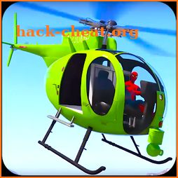 Superheroes Flying Helicopter Speed Racing Games icon