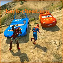 Superheroes Lightning Mcqueen Stunt Racing Games icon