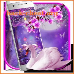Swan Couple Xperia Night Theme icon