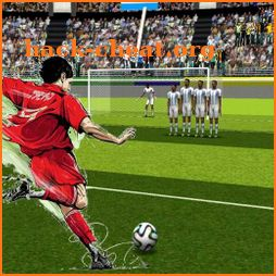 The king of the free kick -soccer icon