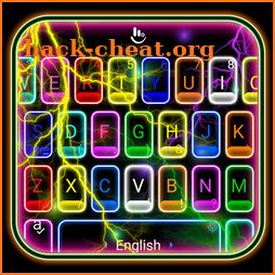 Thunder Neon Colorful Lights Keyboard Theme icon