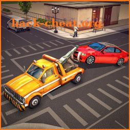 Tow Truck Car Transporter Driving And Parking icon