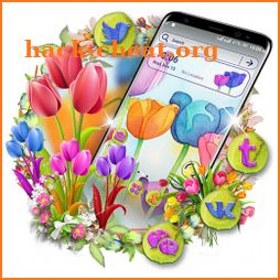 Tulip Flower Painting Launcher Theme icon