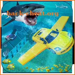 Underwater City Ultimate Flying Car Stunt icon