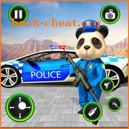 US Police Panda Rope Hero:Police Attack Game icon