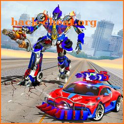 US Police Robot Car Race Shooting Game icon