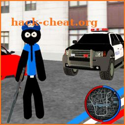 US Police Stickman Rope Hero Vegas Gangstar Crime icon