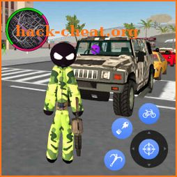 US Stickman Army Rope Hero Gangster Crime icon
