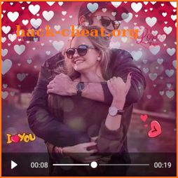 Valentine day video maker 😍 music and pictures icon