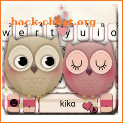 Valentine Owls Love Keyboard Theme icon