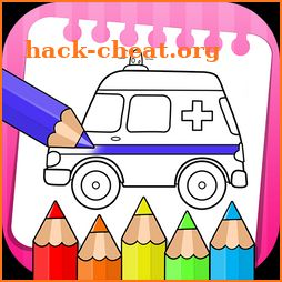 vehicles coloring book & drawing book - kids Game icon
