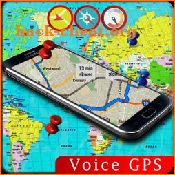Voice GPS Driving Direction Speedometer Street Map icon