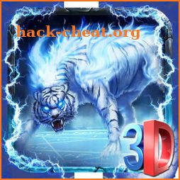 White Horror Wild Tiger Theme icon